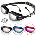 Proworks Anti-Fog  Mirrored  UV Protection Swimming-Goggles (Black)