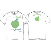 A is for Apple Mens White Vintage Print T Shirt: X Large