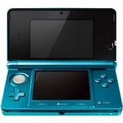 (USED BAGGED) Nintendo Handheld Console in Aqua Blue 3DS Used - Like New