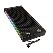 Raijintek Gyges RGB LED Dual Fan Aluminum Radiator - 240mm