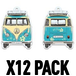 Pina Colada/Turquoise W T1 Bus  (Pack Of 12) Air Freshener - Image 2