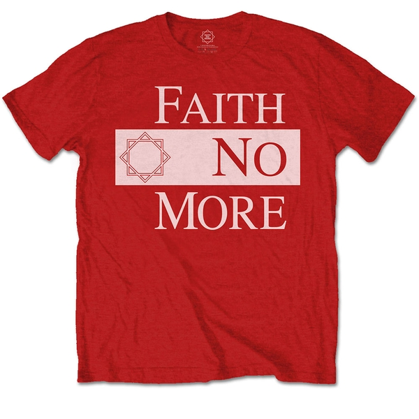 Faith No More - Classic New Logo Star Unisex Large T-Shirt - Red