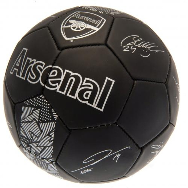Arsenal FC Football Black Signature