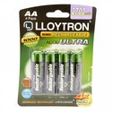 Lloytron B1025 Rechargeable Accuultra AA Ni-MH Batteries 2700mAh 4 Pack