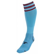 PT 3 Stripe Pro Football Socks LBoys Sky/Maroon
