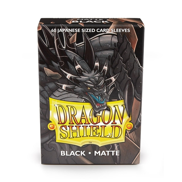 Dragon Shield Matte Black Japanese size Card Sleeves - 60 Sleeves