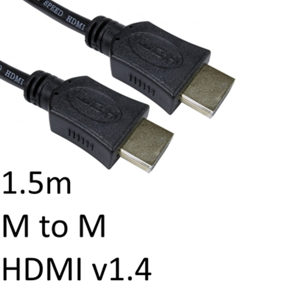 HDMI 1.4 (M) to HDMI 1.4 (M) 1.5m Black OEM Display Cable - Image 1