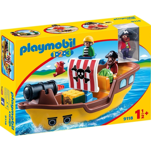 Playmobil 1.2.3 Pirate Ship