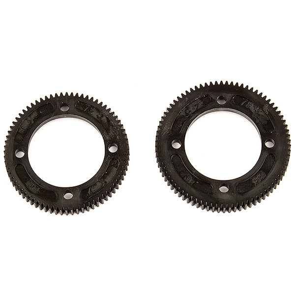 TEAM ASSOCIATED B74 CENTRE DIFF SPUR GEARS, 72/78 TOOTH