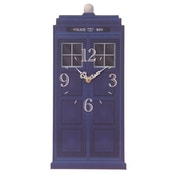 Police Box Shaped Wall Clock