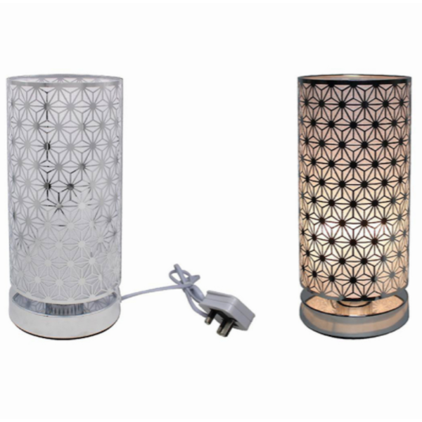Silver Touch Lamp Star By Lesser & Pavey (UK Plug)