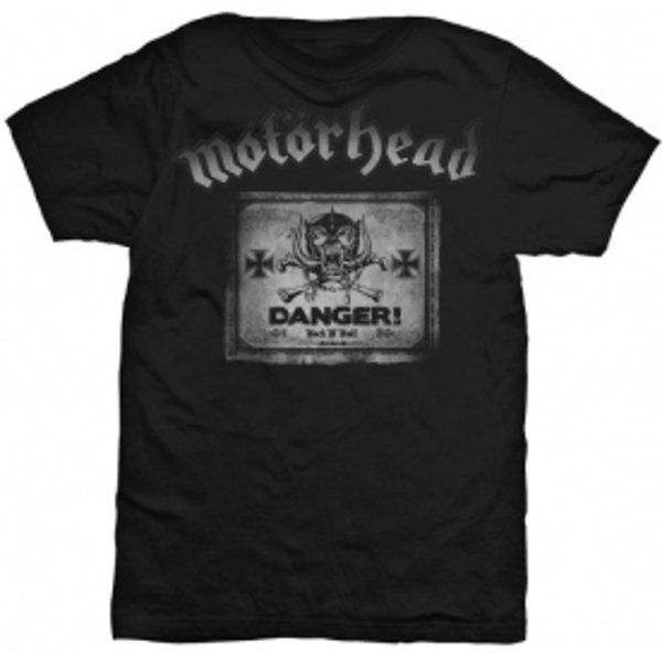 Motorhead Danger Mens Black T Shirt: Medium