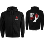 Green Day - American Idiot Men's Small Zipped Hoodie - Black