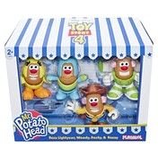 Disney Pixar Toy Story Mr. Potato Head Mini 4 Pack Buzz, Woody, Ducky, Bunny Figures