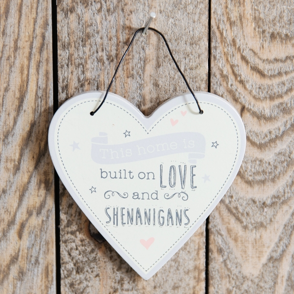 Love Life Heart Plaque - Home is Built on Love