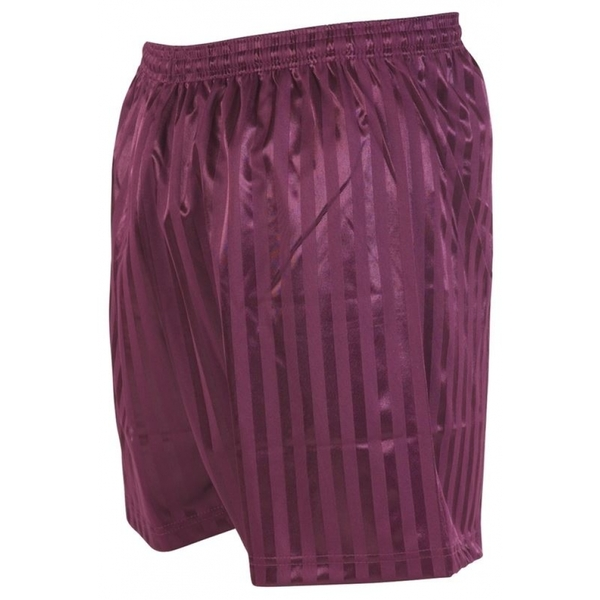 Precision Striped Continental Football Shorts 26-28 inch Maroon