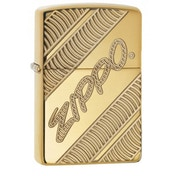 Zippo Coiled High Polish Brass Finish Windproof Lighter