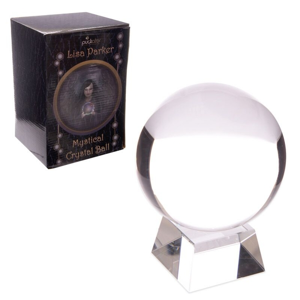 Decorative Mystical 10cm Crystal Ball with Stand