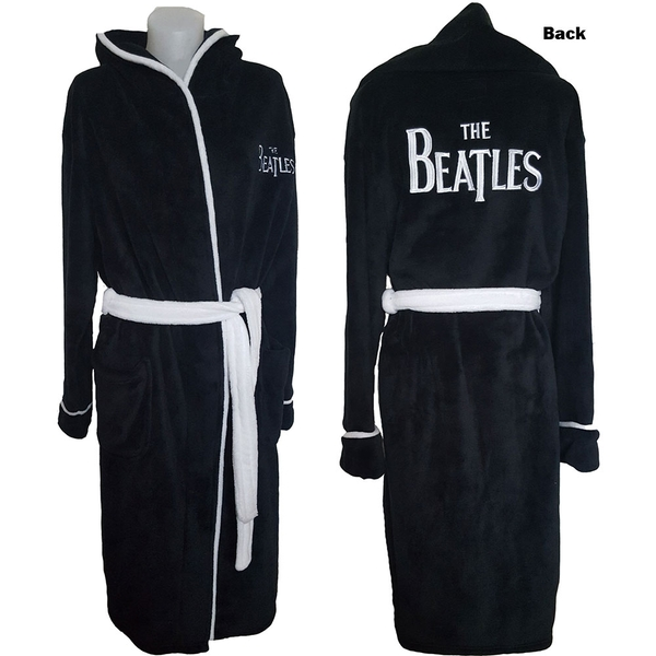 The Beatles - Drop T Logo Unisex Bathrobe - Black