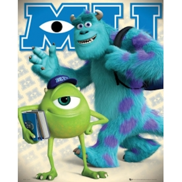 Monsters University Mike and Sully Mini Poster - 365games.co.uk