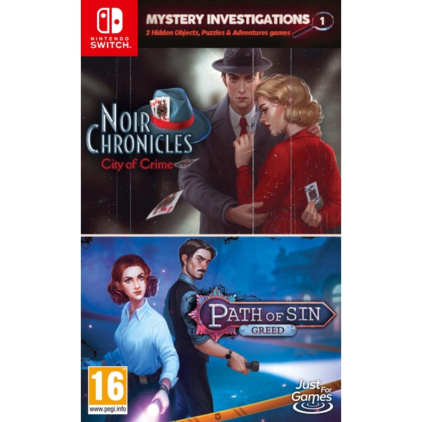 Noir Chronicles City of Crime & Path of Sin Greed Double Pack Nintendo Switch Game