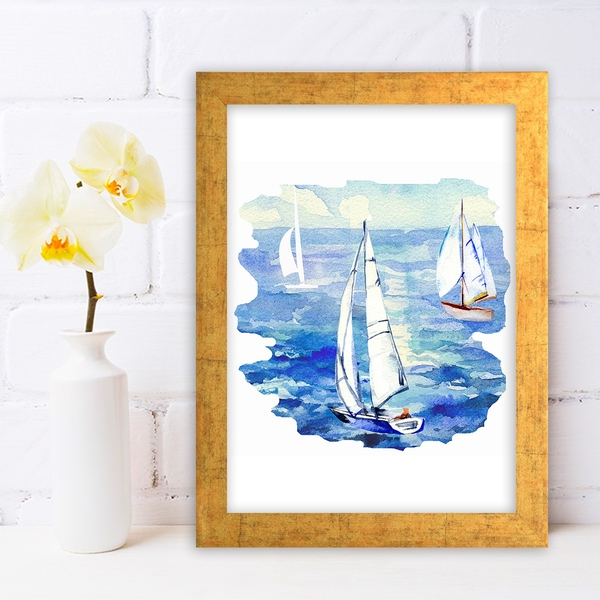 AC608816582 Multicolor Decorative Framed MDF Painting