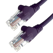 Connekt Gear 2M Purple RJ45 UTP CAT 5e Stranded Flush Moulded Snagless Network Cable 24AWG