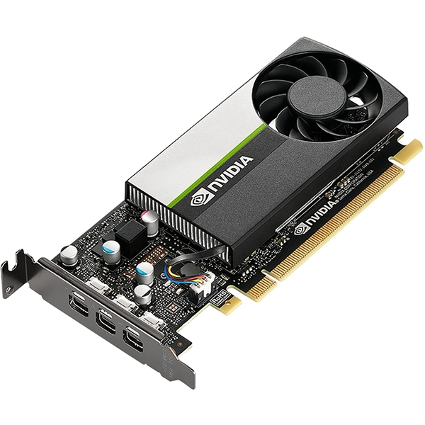 PNY NVidia T400 Professional Graphics Card, 2GB DDR6, 384 Cores, 3 miniDP 1.4 (3 x DP adapters), Low Profile (Bracket Included)
