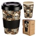 Skulls and Roses Design Bambootique Eco Friendly Travel Cup/Mug - Image 5