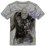 Avengers: Infinity War - Thanos Men's Large T-Shirt - Grey