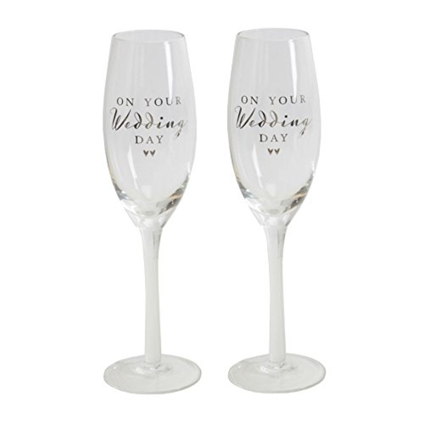 AMORE BY JULIANA? Champagne Flute Set - Wedding Day