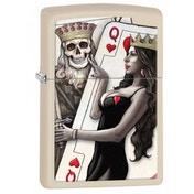 Zippo Queen of Hearts Classic Cream Matte