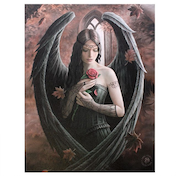 Small Angel Rose Canvas Picture by Anne Stokes