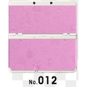 New Nintendo 3DS Cover Plates No 012 Pink Emboss Faceplate