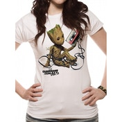 Guardians Of The Galaxy Vol 2 - Groot And Tape Women's X-Large T-Shirt - White