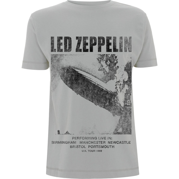 Led Zeppelin - UK Tour '69 LZ1. Men's X-Large T-Shirt - Grey