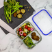 Set of 4 Glass Meal Prep Containers| M&W 3 Compartment - Image 6