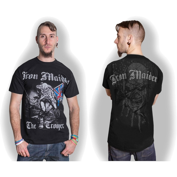 Iron Maiden - Sketched Trooper Unisex XX-Large T-Shirt - Black