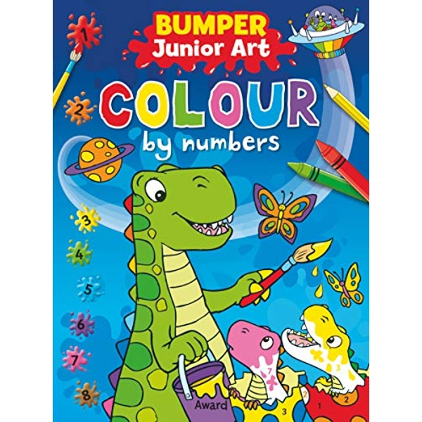 Bumper Junior Art Colour by Numbers by Award Publications Ltd (Paperback, 2013)