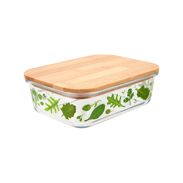 Sass & Belle Large Powered by Plants Glass Storage Box