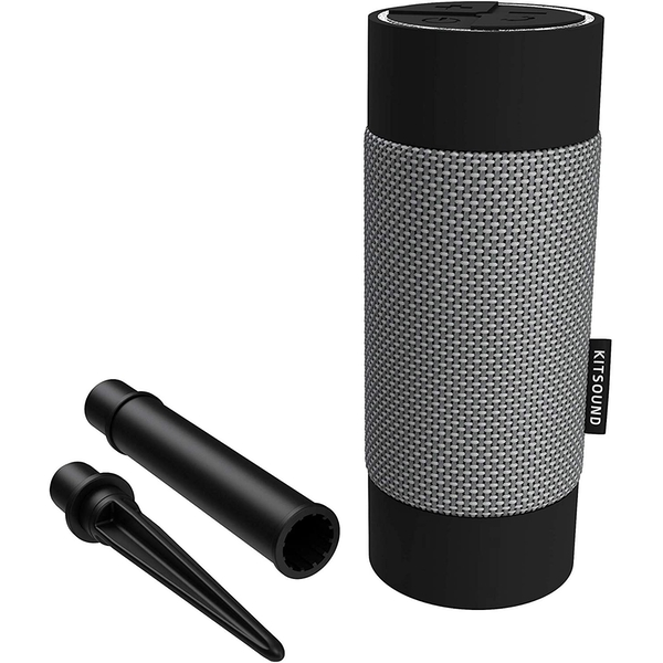 KitSound Diggit Outdoor Freestanding Bluetooth Garden Speaker with Removable Stake, Black