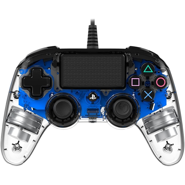 Nacon Compact Wired Illuminated Light Edition Controller (Blue) PS4