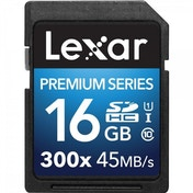 Lexar Premium Series 16 GB Class 10 SDHC 300x Speed Platinum II U1 Memory Card