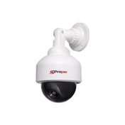 Proper Imitation Speed Dome Camera with Flashing Light White