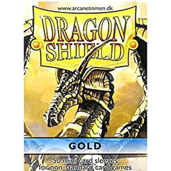 Dragon Shield Japanese size - Gold 50 Sleeves (10 Packs)