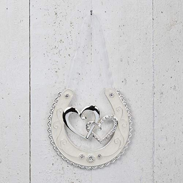 Celebrations Silverplated Horse Shoe - Double Hearts
