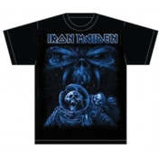 Iron Maiden Final Frontier Blue Album Spaceman TS: Small