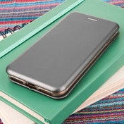 Caseflex iPhone 7 PU Leather Stand Wallet with Felt Lining - Grey
