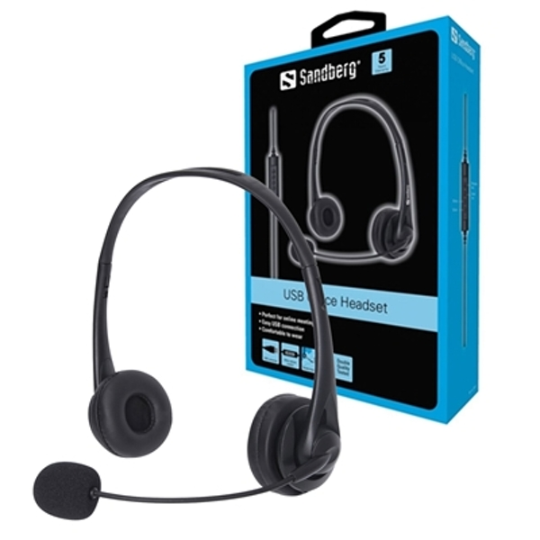 Image of Sandberg USB Headset with Microphone