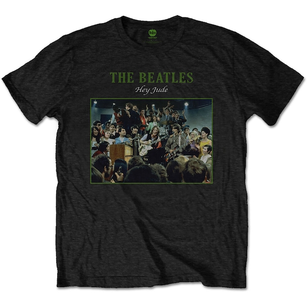 The Beatles - Hey Jude Live Men's Large T-Shirt - Black